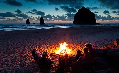 camp fire summer