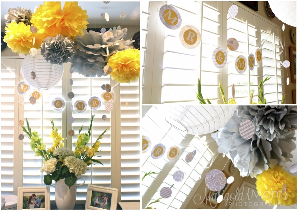 Yellow And Grey Bridal Shower Hello Brielle