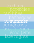 i love summer free printable
