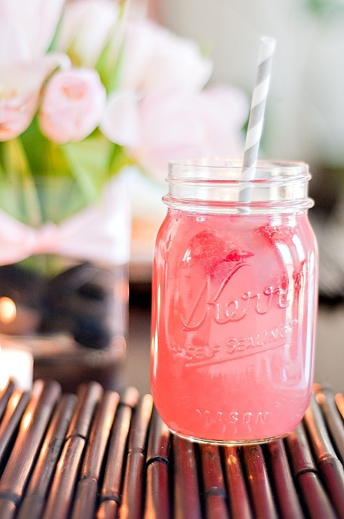 raspberry lemonade straw