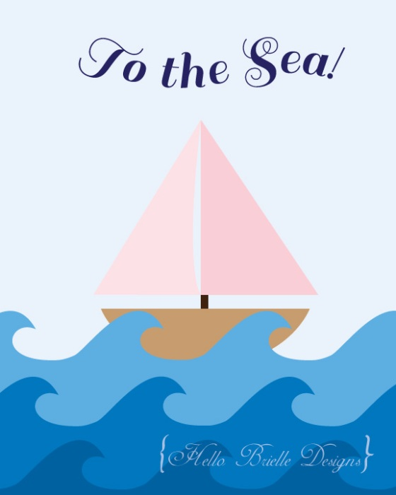 to the sea printable art Hello Brielle