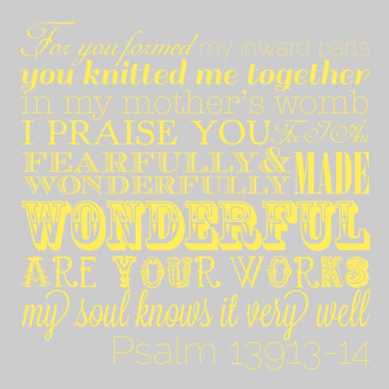 Psalm 139 quote for nursery