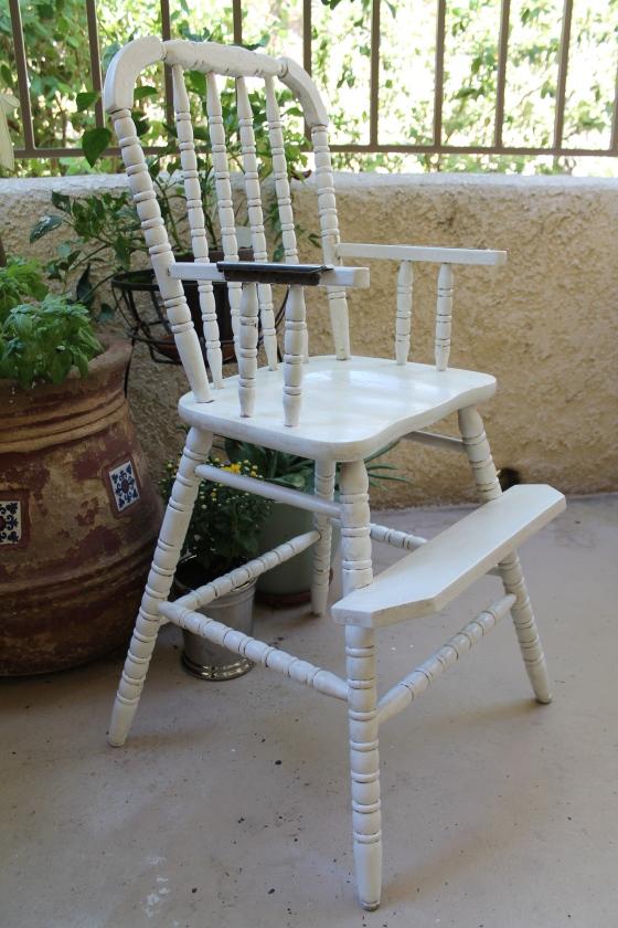vintage high chair hello brielle