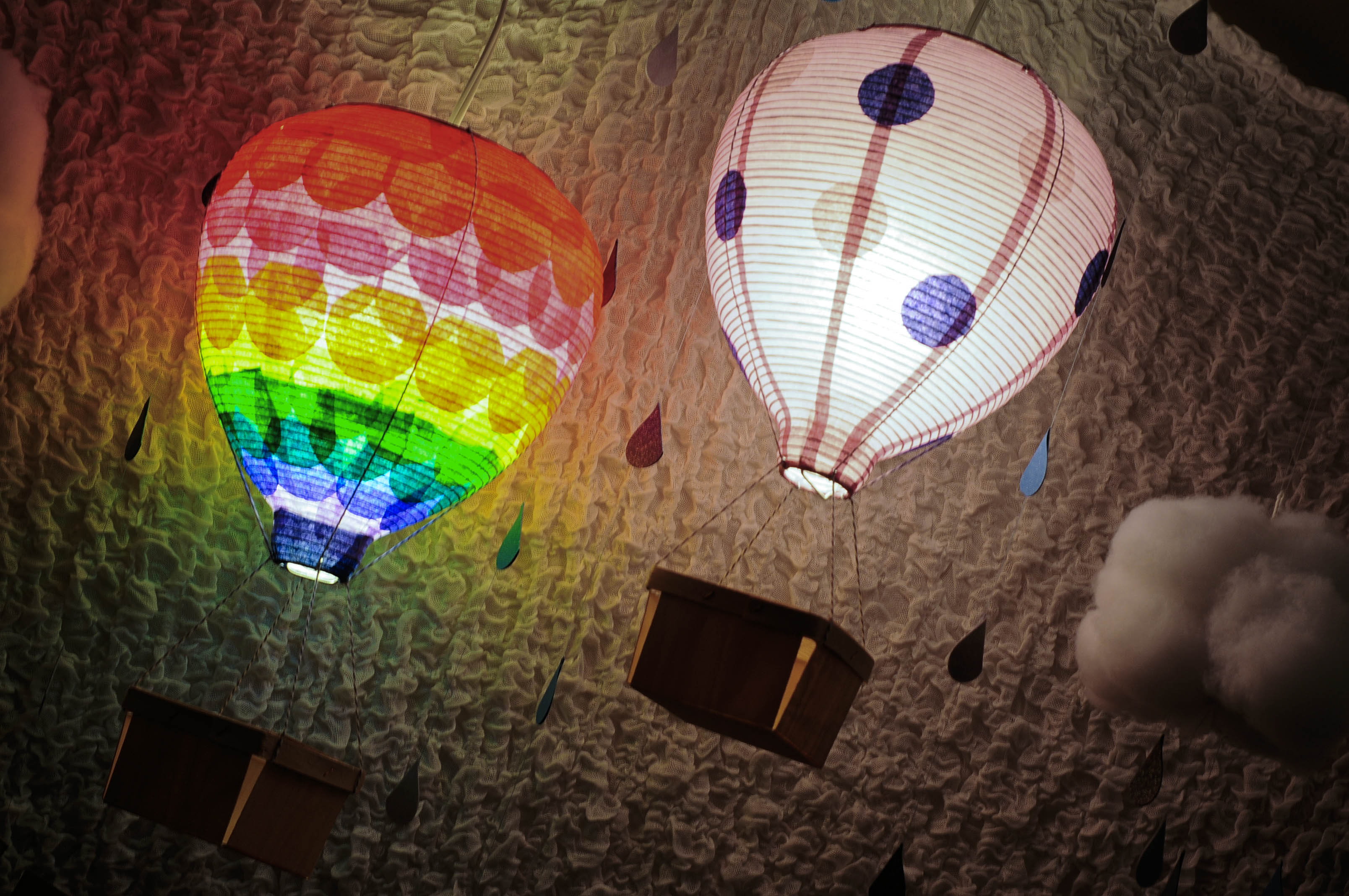 Rainbow Hot Air Balloon Birthday Party Hello Brielle