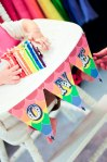 banner for high chair, rainbow cake