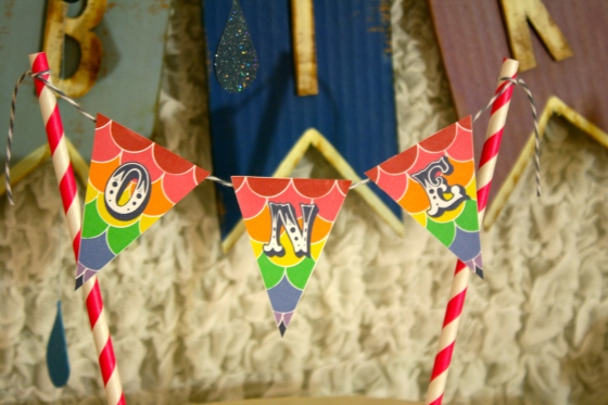 Rainbow Party cake banner