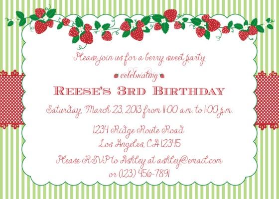 Strawberry Shortcake Party, Strawberry Patch Party, third birthday, baby shower