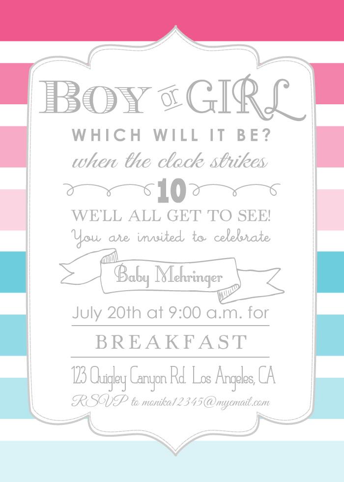 ombré gender reveal party | Hello Brielle!