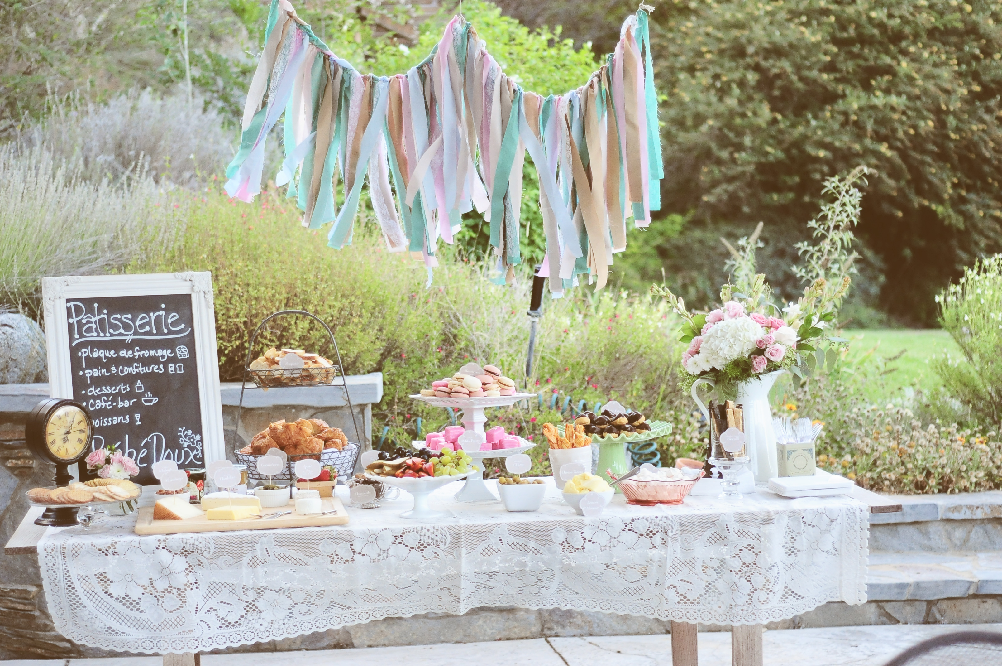 friends and i planned a sweet and vintage p tisserie themed shower