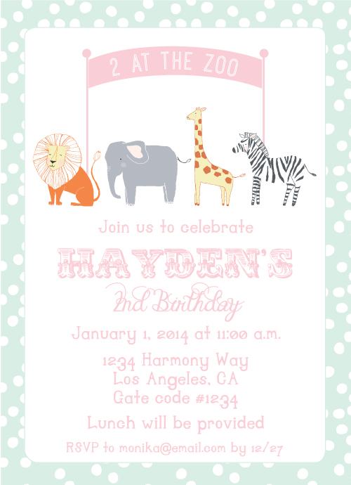 second birthday, zoo themed, animals, polka dots