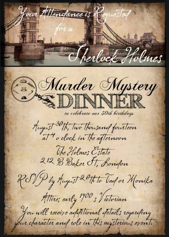 Sherlock Holmes Murder Mystery Dinner Hello Brielle