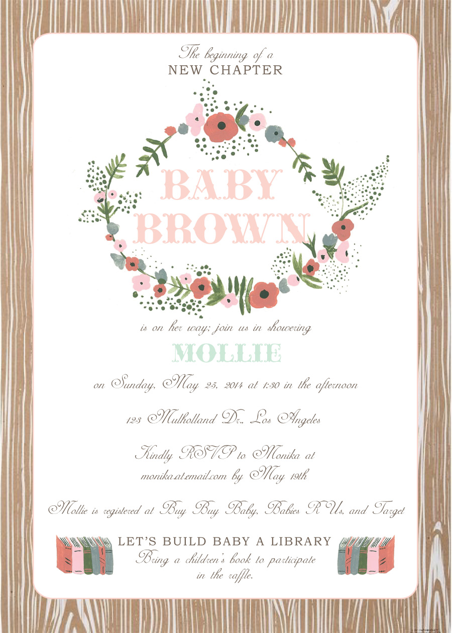 Woodland floral build baby a library baby shower hello brielle woodland florals rifle paper company look faux bois filmwisefo
