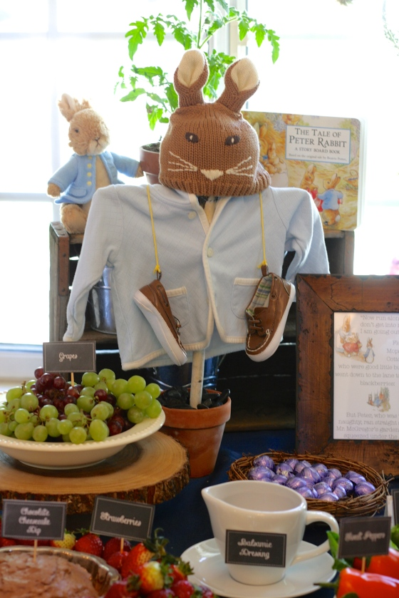 Peter Rabbit Baby Shower Scarecrow