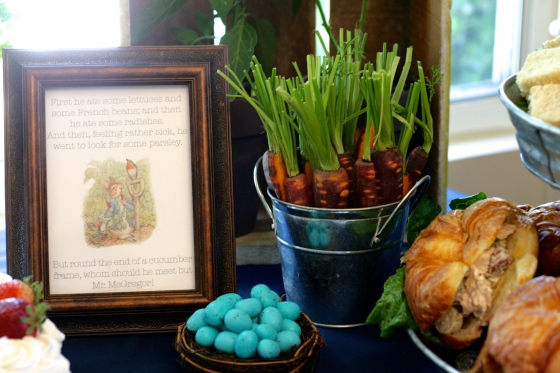 Peter Rabbit Baby Shower Food Table