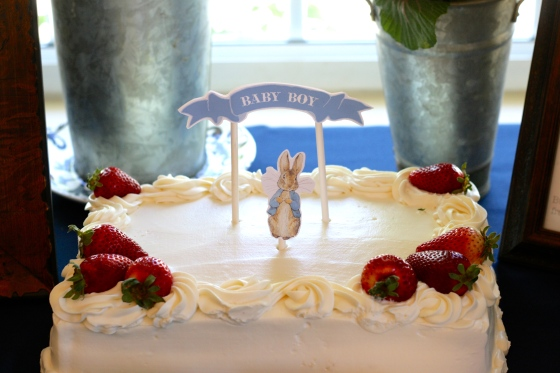 Peter Rabbit  Baby Shower Cake and Cake Topper
