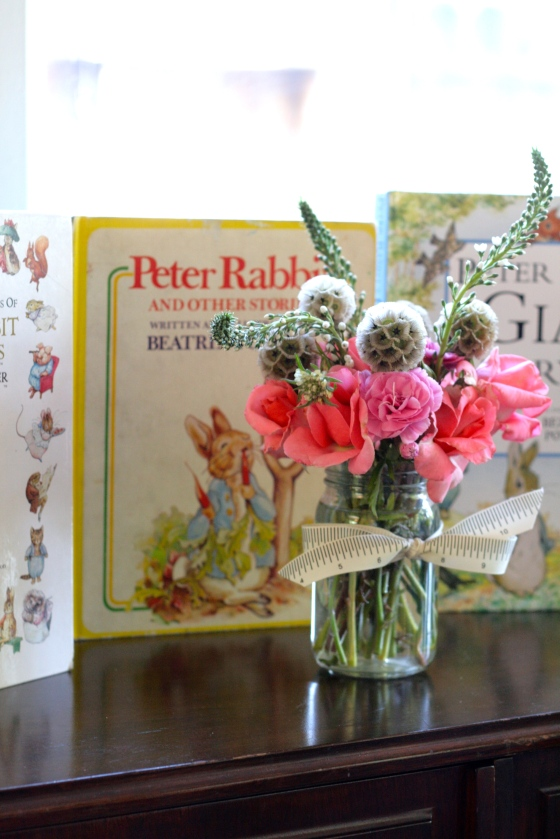 Peter Rabbit Baby Shower Floral Arrangements